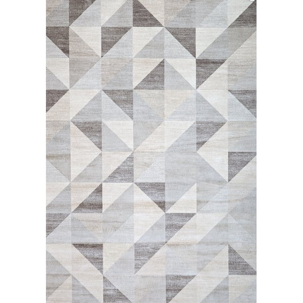 Claxton Grey/White Area Rug by Ivy Bronx
