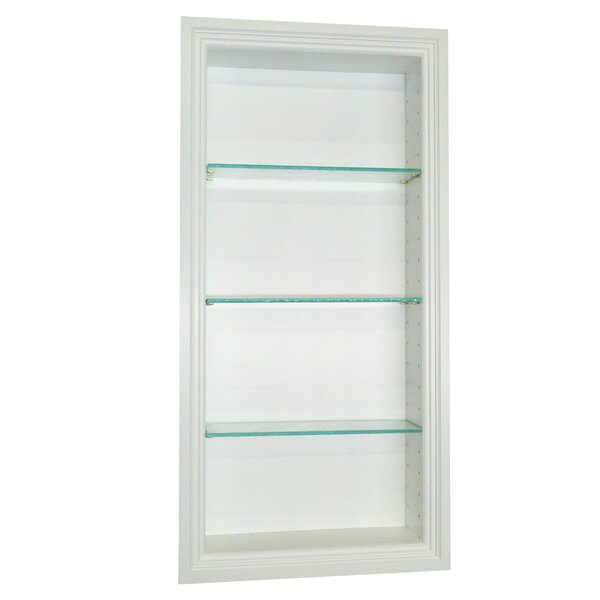 Bal Harbour 15.5 W x 37.5 H Recessed Shelving by WG Wood Products