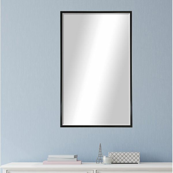 Rectangle Black Metal Wall Mirror by Darby Home Co