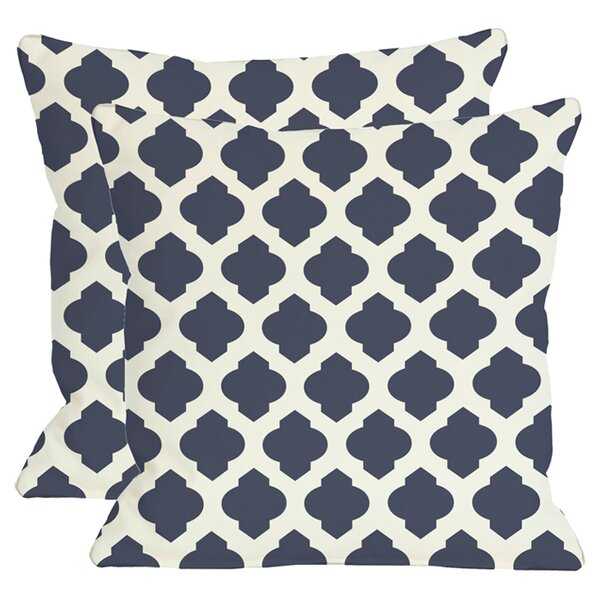 Morrow Throw Pillow in Navy (Set of 2) by One Bella Casa