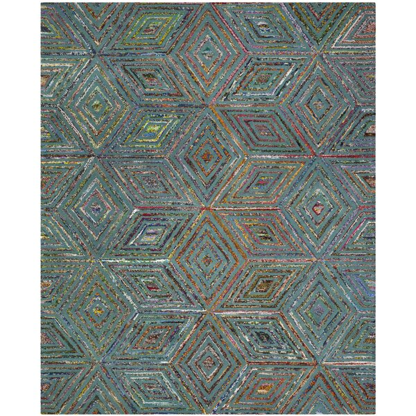Tufted Cotton Blue Area Rug by Bungalow Rose
