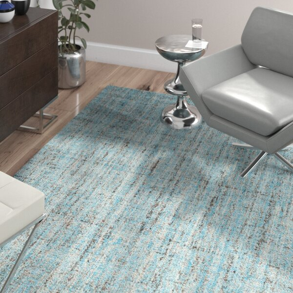 Dreshertown Hand-Tufted Blue/Gray Area Rug by Wade Logan