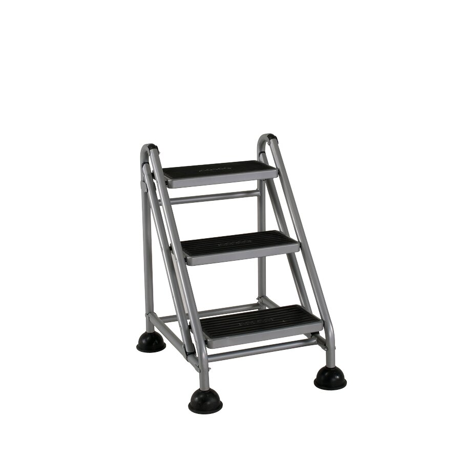 Cosco Home And Office 3 Step Steel Rolling Step Stool With