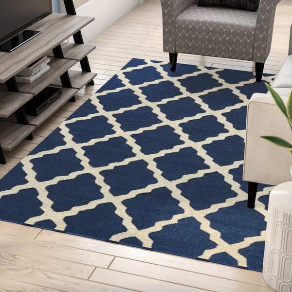 Boulware Moroccan Trellis Navy Area Rug by Zipcode Design