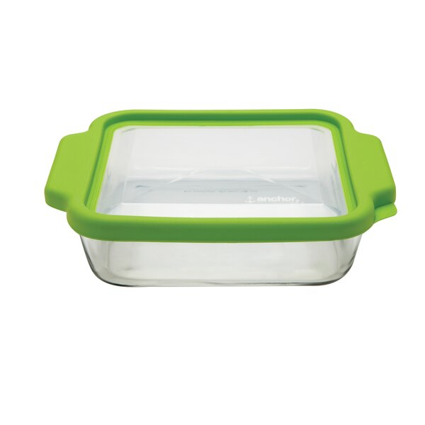 TrueFit Glass Square Baking Dish with Lid (Set of 3) by Anchor Hocking