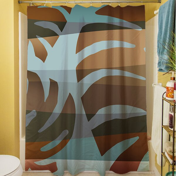 Tropical Leaf IV Shower Curtain by Manual Woodworkers & Weavers