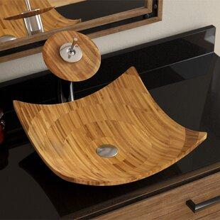 Save To Idea Board. MR Direct. Bamboo Square Vessel Bathroom Sink