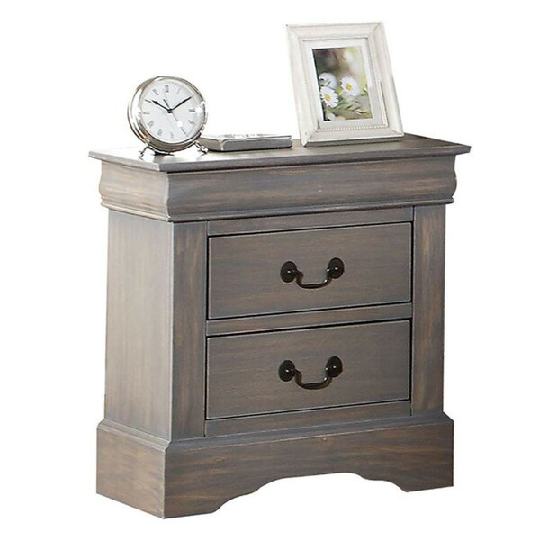 Melina Wooden 2 Drawer Nightstand by Ophelia & Co.