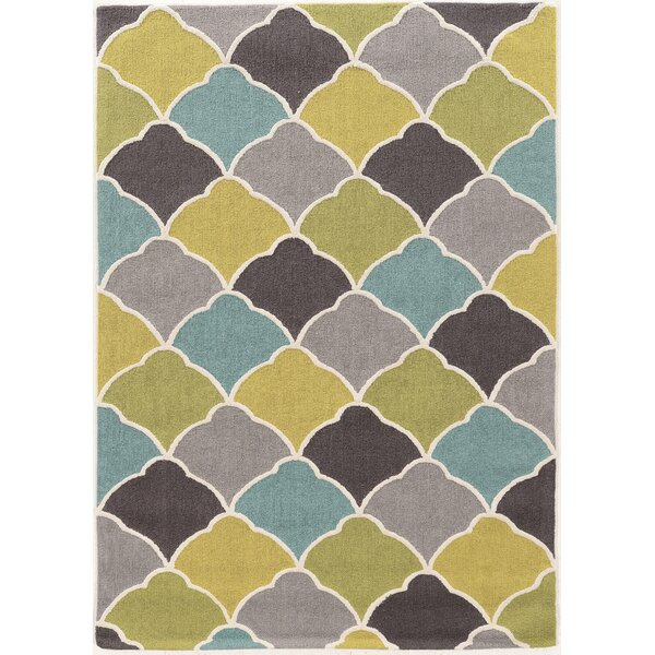 Beaded Hand-Tufted Area Rug by Ebern Designs