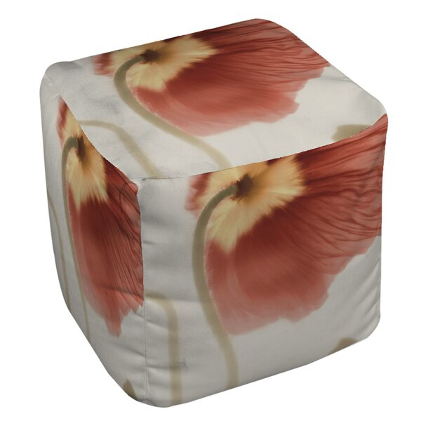 Mystic Poppy 2 Pouf by Manual Woodworkers & Weavers