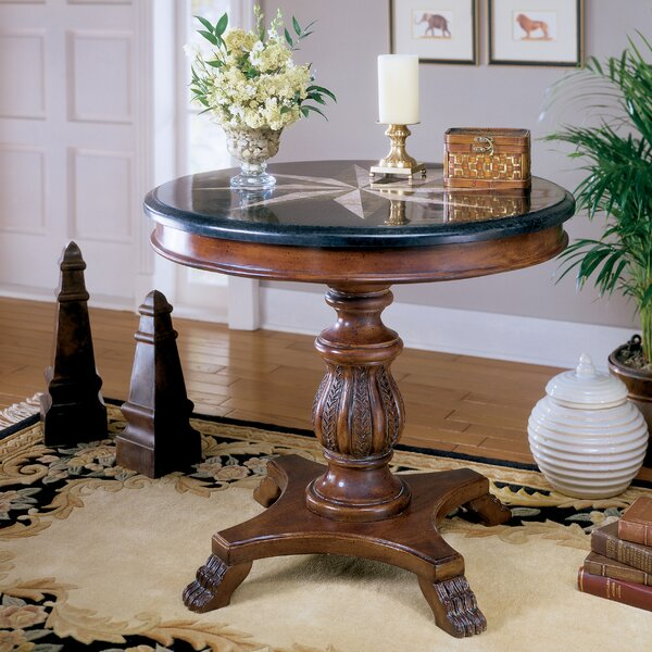 Hobson Stone Inlay End Table by Astoria Grand Astoria Grand