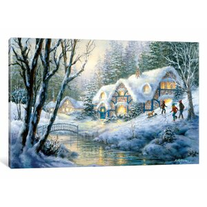 'Winter Frolic' Painting Print on Canvas by East Urban Home