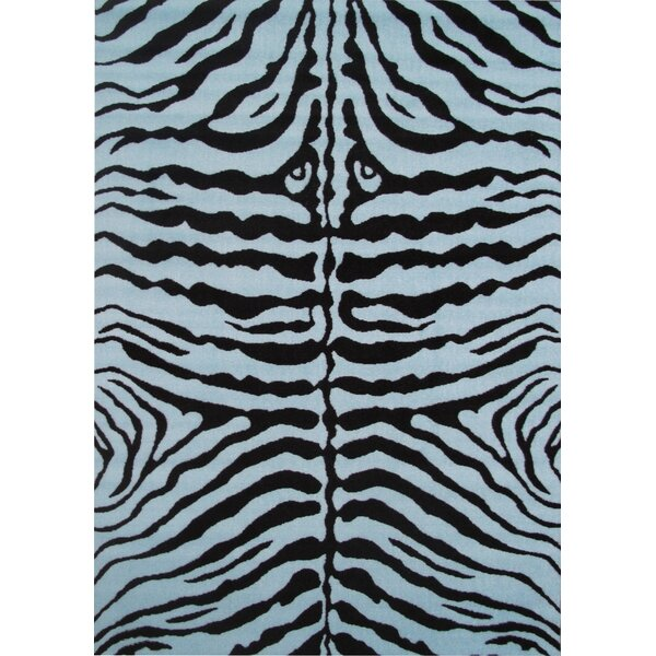 Fun Time Blue Zebra Skin Area Rug by Fun Rugs
