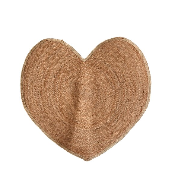 Jen Heart Hand-Woven Natural Area Rug by Ophelia & Co.