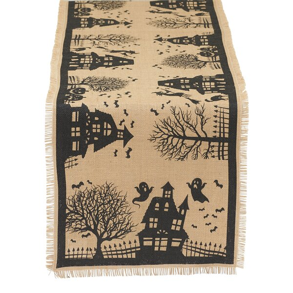 Haunted House Printed Table Runner by The Holiday Aisle