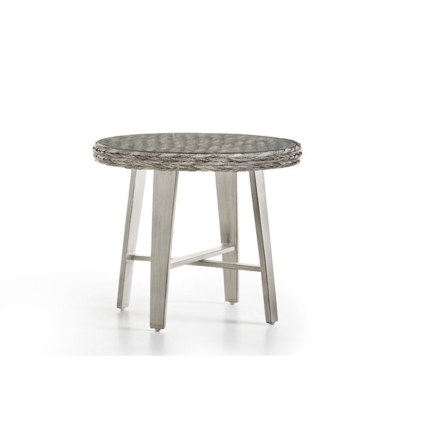 Craut Wicker/Rattan Side Table by Highland Dunes