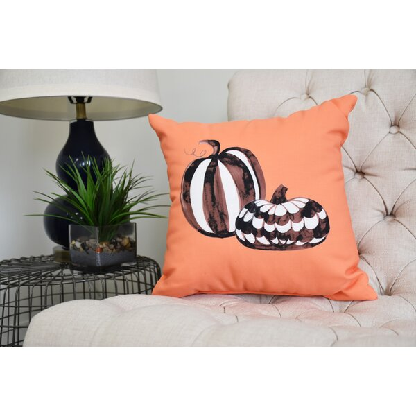 Maser Pumpkin Duo Halloween Throw Pillow by The Holiday Aisle