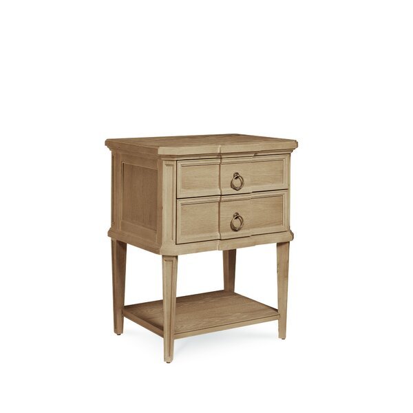 Carrie 2 Drawer Nightstand by One Allium Way
