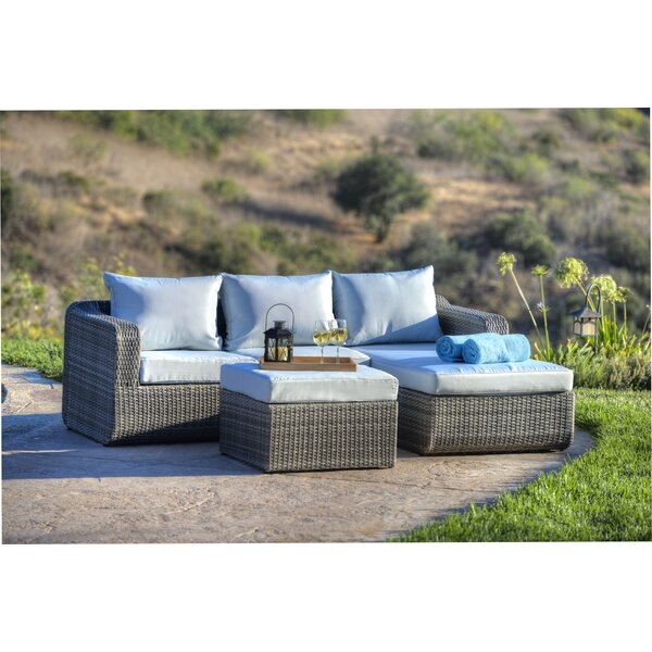 Penwell 3 Piece Sofa Seating Group with Cushions by Mercury Row