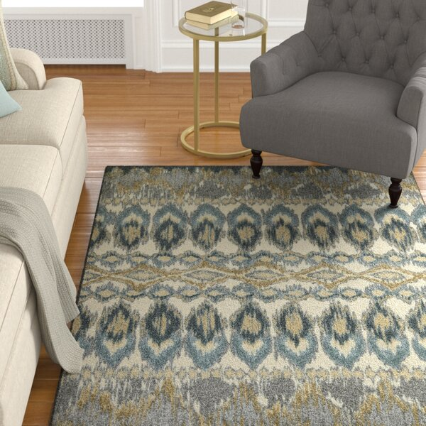 Hersey Blue Area Rug by Charlton Home