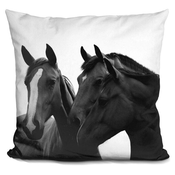 Holford Horse Throw Pillow by Wrought Studio