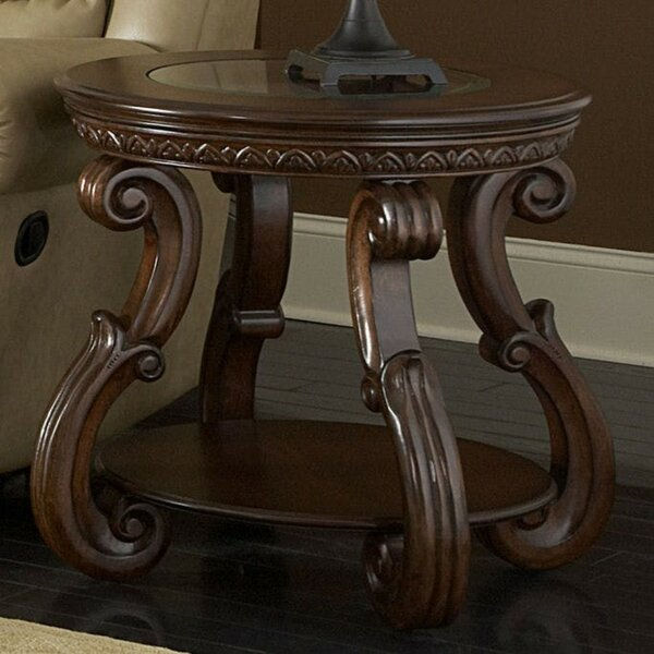 Domingue Wooden End Table By Astoria Grand