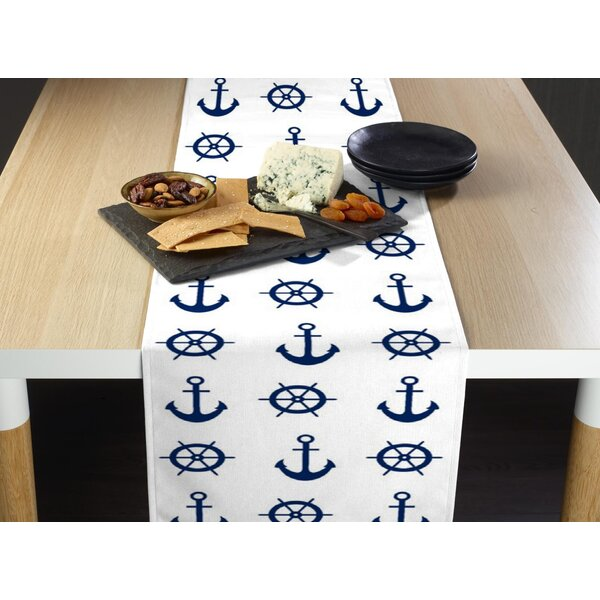 Esmont Nautical Anchors and Wheels Milliken Signature Table Runner by Breakwater Bay
