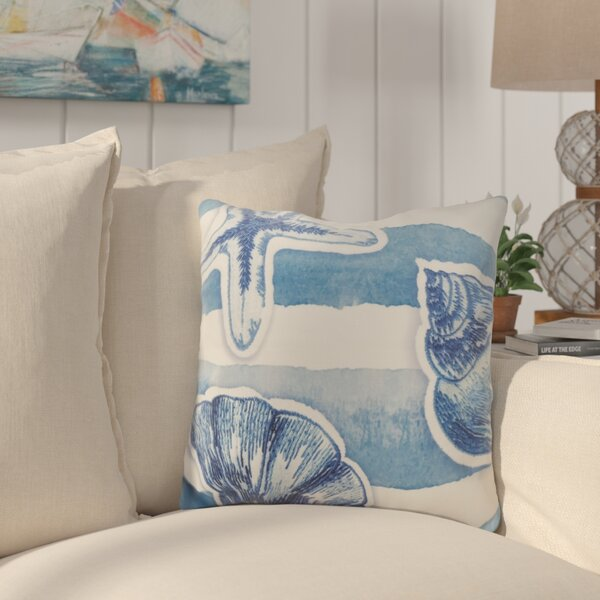 Alonsa Watercolor Waves Down Filled Throw Pillow by Highland Dunes