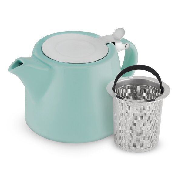 Harper 20 oz Ceramic Teapot with Infuser by Pinky Up