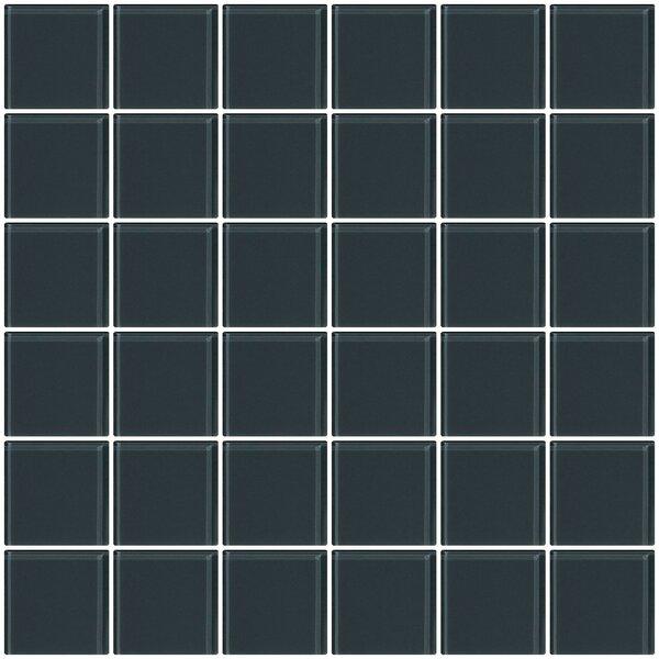 Bijou 22 2 x 2 Glass Mosaic Tile in Dark Gray by Susan Jablon