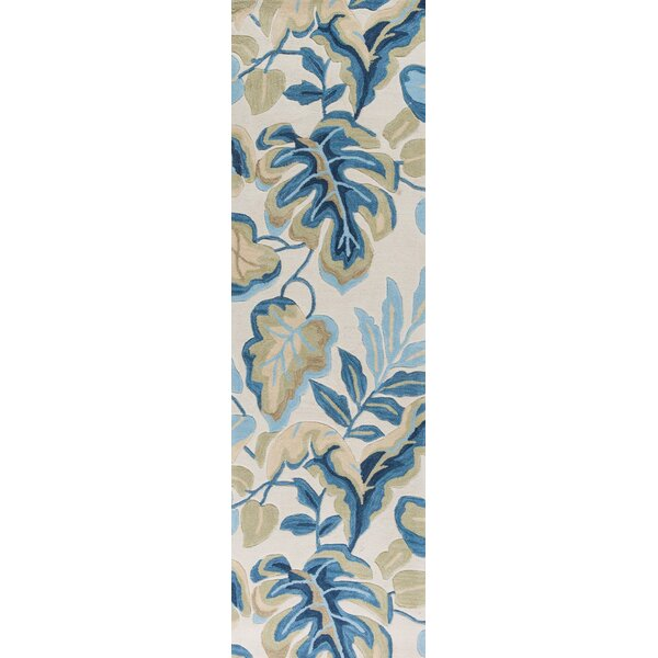 Alarice Hand-Tufted Ivory/Blue Area Rug by Red Barrel Studio