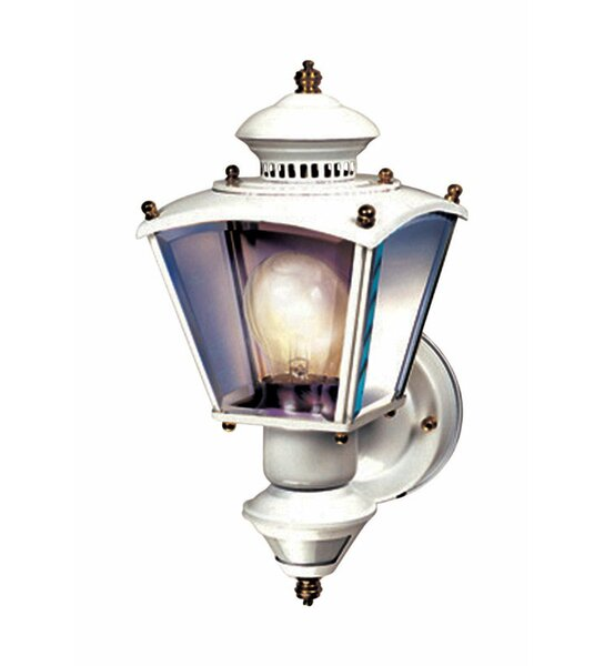 Gladiolus Coach Glass Outdoor Wall Lantern with Motion Sensor by World Menagerie