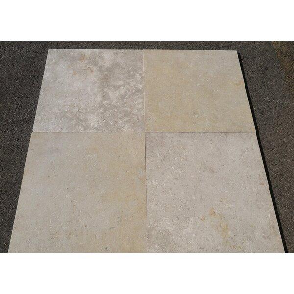 Jerusalem Grey Gold Brushed 24x24 Limestone Field Tile
