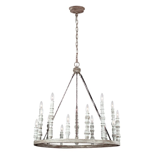 Montelimar 15 - Light Candle Style Wagon Wheel Chandelier by One Allium Way One Allium Way