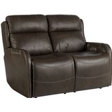 Dutson Leather Reclining 54 Square Arms Loveseat by Red Barrel Studio®