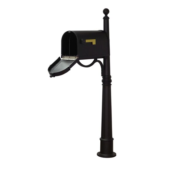Berkshire Curbside Mailbox with Ashland Post Included by Special Lite Products