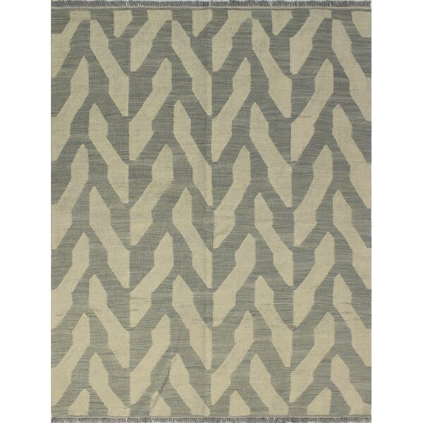 One-of-a-Kind Deb Hand-Woven Wool Ivory Area Rug by Isabelline