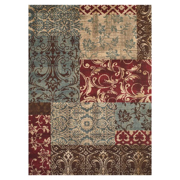 Kingsford Red/Gray Area Rug by Threadbind