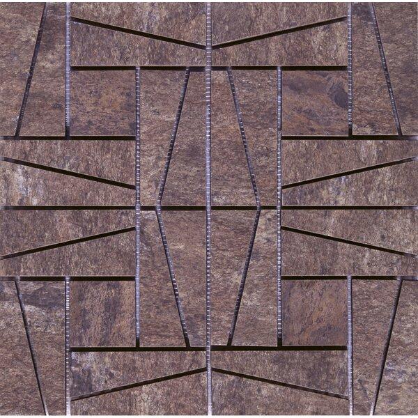 16 x 16 Ceramic Mosaic Tile in Supremo Autumn by Interceramic
