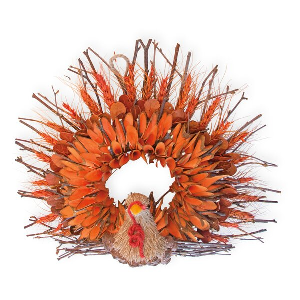 Twig and Husk Terry Turkey 13.75 Wreath by The Holiday Aisle
