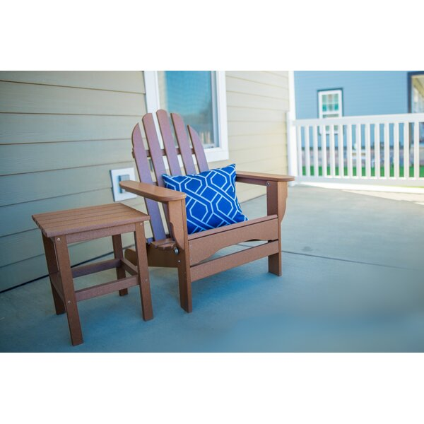Theta Plastic Folding Adirondack Chair with Table by August Grove August Grove