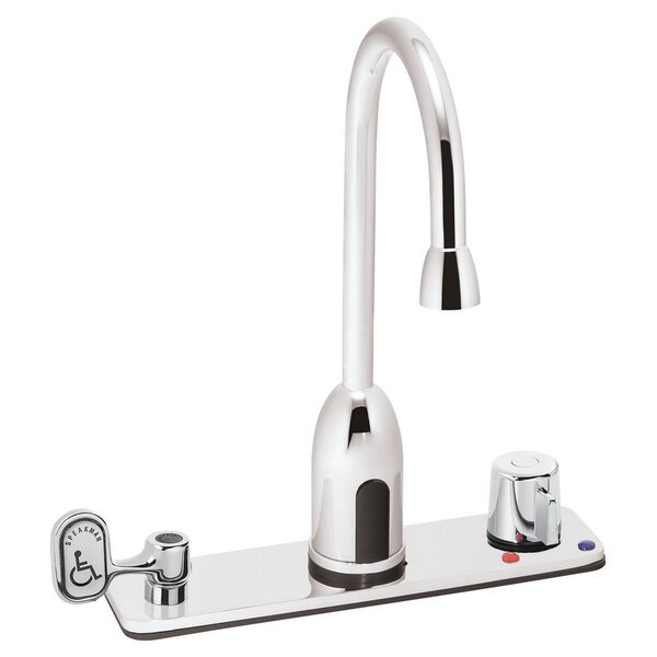 Sensorflo AC Powered Gooseneck Lavatory Widespread Bathroom Faucet by Speakman