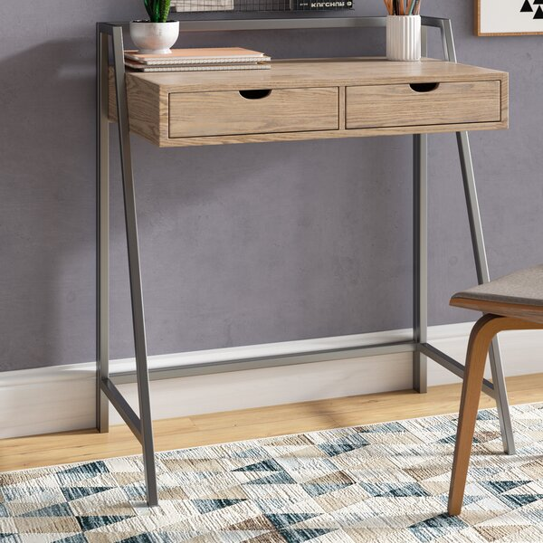 Donati Industrial 2-Drawer Writing Desk by Mercury Row