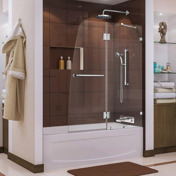 Aqua Lux 48 x 58 Hinged Frameless Tub Door by DreamLine