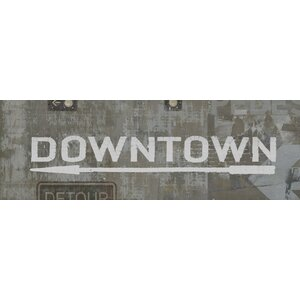 'Downtown' Textual Art on Canvas by East Urban Home