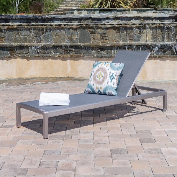 Royalston Outdoor Reclining Chaise Lounge by Brayden Studio