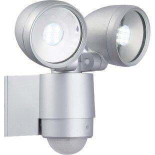 Pir security lights wayfair radiator 2 light led outdoor spotlight with pir sensor aloadofball Images