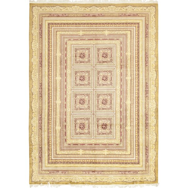 One-of-a-Kind Heimbach Hand-Knotted Wool Beige Indoor Area Rug by Bloomsbury Market