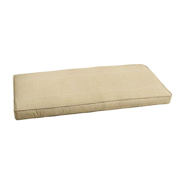 Textured Indoor/Outdoor Sunbrella Bench Cushion by Bay Isle Home