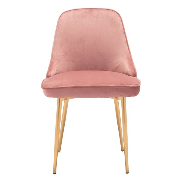 Coleshill Dining Chair Navy Velvet by Everly Quinn